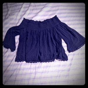 Zara Tops - *Get it for $2* Zara Smocked Off The Shoulder Top